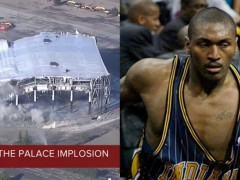 NBA 史上唯一被当作 WWE 的主场!活赛队主场「奥本山宫殿」遭爆破拆除,球迷:拳王阿泰的生涯巅峰!