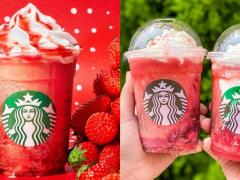 草莓控疯掉!星巴克推出两款夏日清凉「草莓星冰乐」,超厚奶霜+新鲜草莓果肉简直太罪恶!