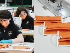 终于买得起了!蓝宝坚尼投入产线日产千枚口罩,亮橘色搭配经典 Logo 太时尚!