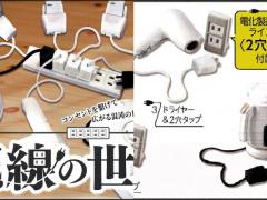 快送一组给那位桌上永远都很乱的朋友,日本超废扭蛋「配线世界」乱糟糟的电线看到都胃痛啦~