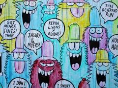 艺术家Kevin Lyons 神作adidas Originals彩绘涂鸦墙 !张开你的大嘴一起嘶吼吧!