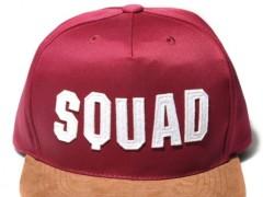 经典中的特别款 SQUAD雷射字母麂皮拼接棒球帽