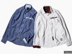 CABAL直纹菱格电绣衬衫 成熟表现