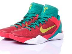 绿白红完美搭配的Nike Zoom Kobe VII龙年特别款