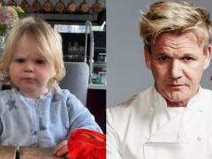 英国封城出不去! 「地狱厨神」戈登拉姆齐 1 岁儿神複製老爸招牌臭脸
