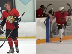 小贾 Justin Bieber 参加冰球比赛帅气得分,搞笑庆祝舞姿笑翻网友!