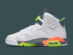 """亮眼萤光 ‧ Air Jordan 6 GS """"Ghost Green/Hasta/Bright Mango"""" 最新发售"""