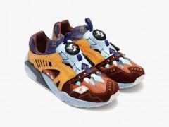 拼接球鞋呈现职人工艺!PUMA x Ojaga Design Disc Trinomic