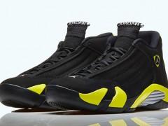 """黑 X 黄是雷神的配色!! Air Jordan 14 Retro """"Thunder"""" 鞋款"""
