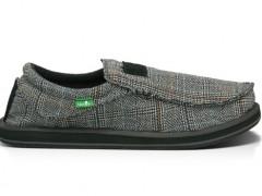 Sanuk爱尔兰格纹Glen Check宽版懒人鞋 舒适上架