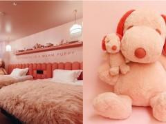 比 KAWS 联名更有趣?「限量版粉红色史努比」登场,还有主题房间!