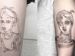 天才刺青师打造「模糊派」视觉风格刺青,迷幻线条让刺青瞬间 3D 化超吸睛!