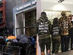 经典 ASSC Logo 和 BAPE 猿人迷彩的结合!直击 Anti Social Social Club x BAPE 联乘系列 ‧ 纽约发售现场