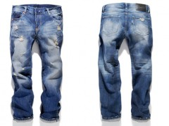 Hometown Development的夏日中直筒水洗磨损牛仔裤